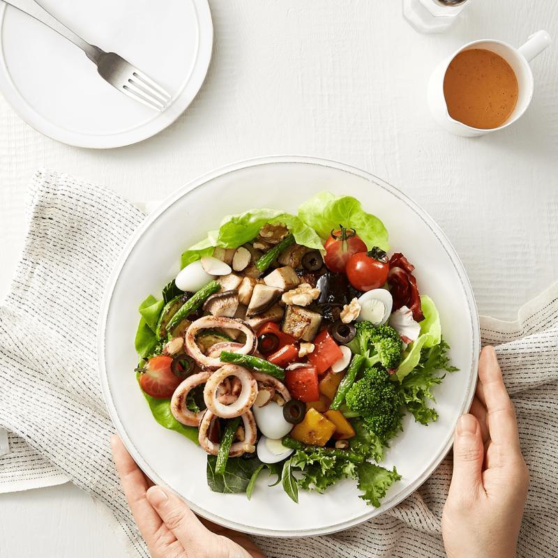 구운채소&오징어 샐러드
