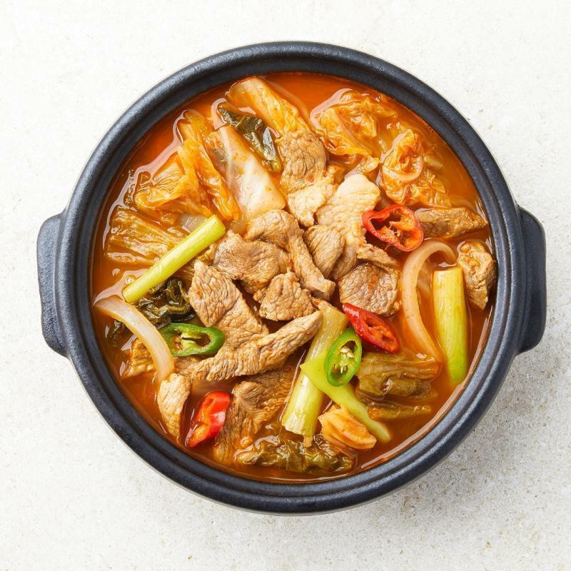 동물복지 돼지고기 듬뿍 김치찌개 (2인분)